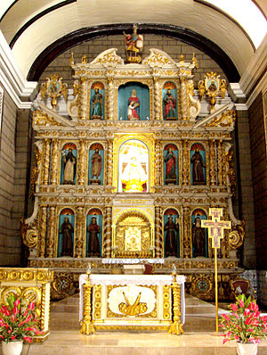 Santa Ana Church - The retablo of the church