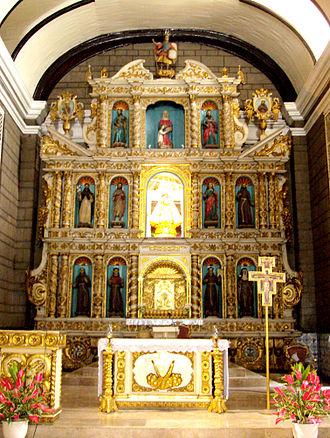 Santa Ana Church - The retablo of the church