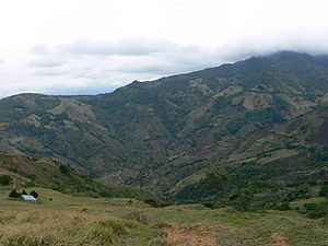Santa Ana (canton) - View of the mountains in Salitral, Santa Ana.