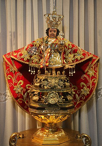 Archaeology of the Philippines - The Santo Niño de Cebú, one of the oldest Christian relics in the Philippines.