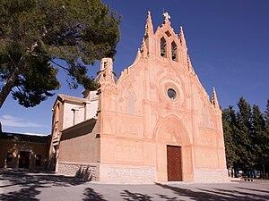 Papercraft building imprimible y armable del  Santuario de la Virgen de Gracia de Caudete en Albacete, España. Manualidades a Raudales.
