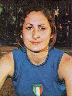 Sara Simeoni Italian high jumper