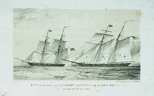 Battle of La Guaira (1812) - Image: Saratoga vs Rachel