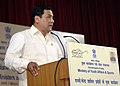 Sarbananda Sonowal addressing at the inauguration of the Conference of Ministers of StatesUTs in-charge of Youth Affairs & Sports, in New Delhi on March 21, 2015.jpg