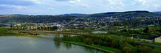 Saar (river) - Image: Sarrmuendung Panorama 2
