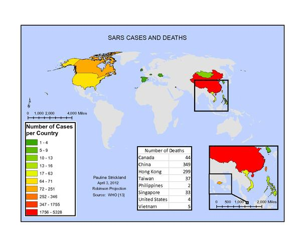The areas affected by SARS Sars Cases and Deaths.pdf