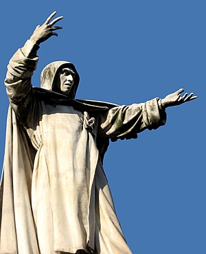 English: Savonarola monument, Ferrara.