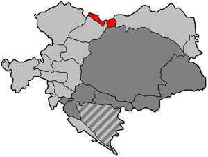 Austrian Silesia - Austrian Silesia (shown in red) within Austria-Hungary until 1918