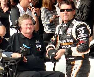 2011 Indianapolis 500 - Car owner Sam Schmidt with pole winner Alex Tagliani.