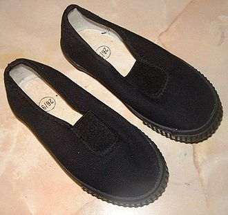 "Slippering - School plimsolls or ""slippers"""