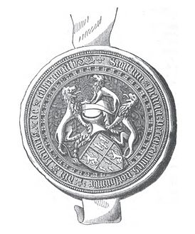Seal of Henry Percy, 3rd Earl of Northumberland in 1435.jpg