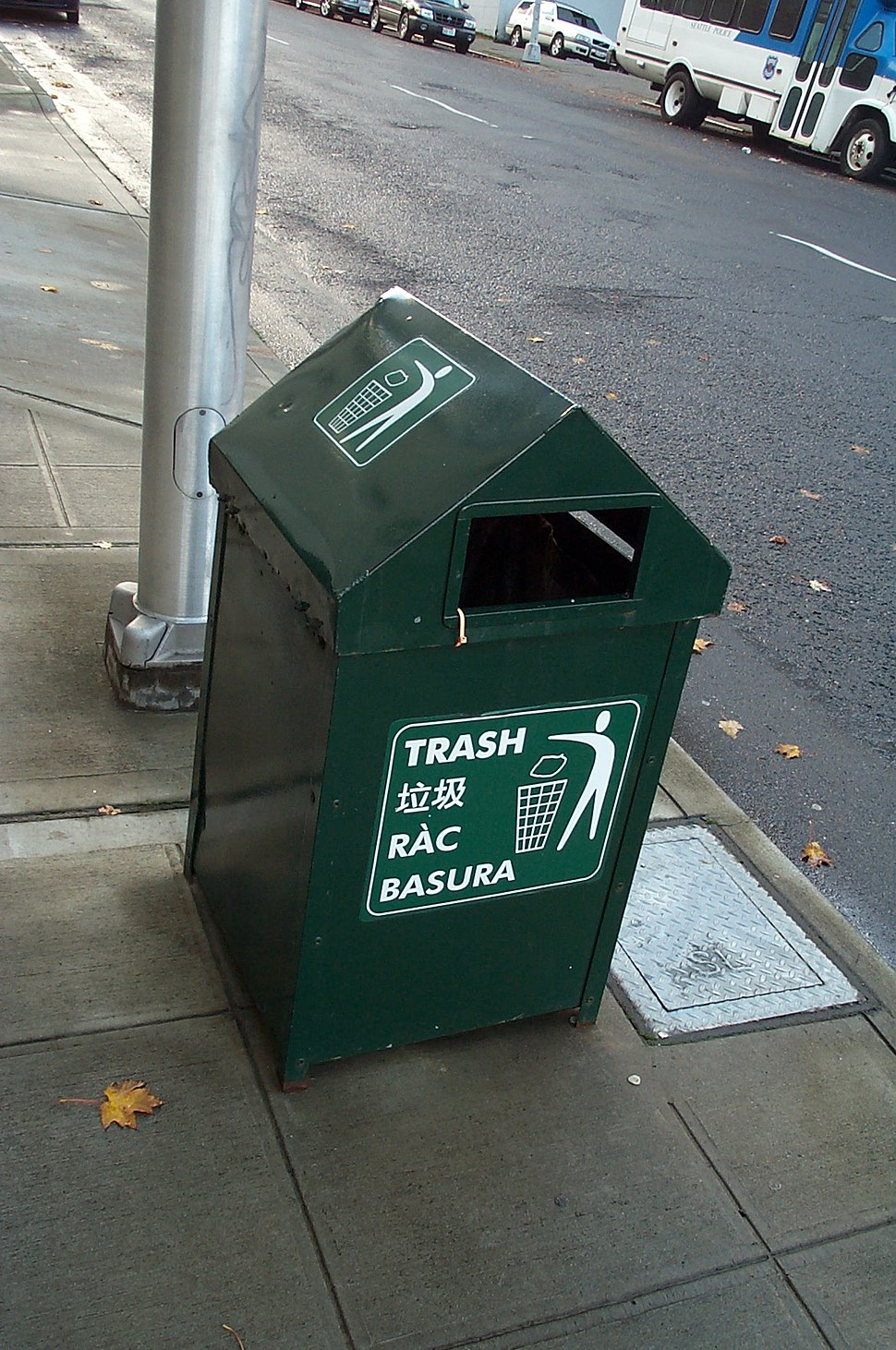 Seattle trash lese rac basura 200511