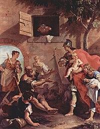 A infância de Ciro, rei da Pérsia. Sebastiano Ricci (1659 – 1734)