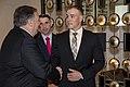 Secretary Pompeo Greets U.S. Marines from U.S. Embassy London (46893456495).jpg