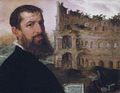 Self-portrait with the Colosseum, by Maerten van Heemskerck.png
