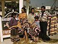 Seminole family selling patchwork clothing near the Brighton Reservation (8470989556).jpg
