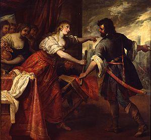 Giovanni Andrea de Ferrari - Semiramis Receiving Word of the Revolt of Babylon