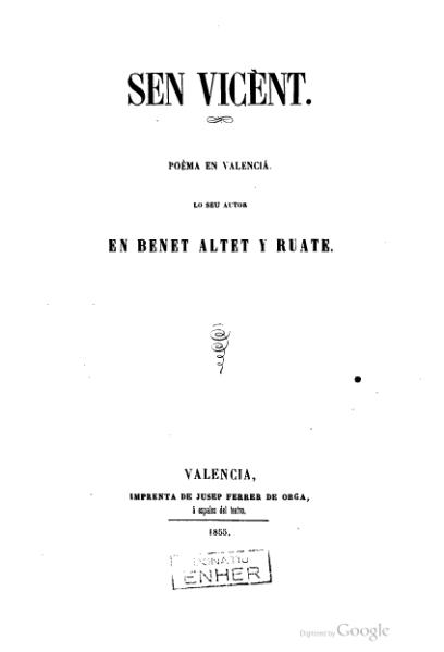 File:Sen Vicènt - Poèma en valencià (1855).djvu