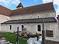 Sentilly (Orne) Murs en arête-de-poisson de la nef de l'église.JPG