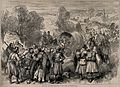 Serbo-Bulgarian War; wounded and sick being taken to Tcherna Wellcome V0015495.jpg
