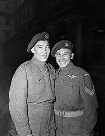 Sergeant Tommy Prince Private Morris Prince Buckingham Palace.jpg