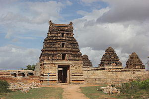 Achyuta Deva Raya - The Shiva temple at Timmalapura was constructed in 1539 A.D. during the reign of Achyuta Raya