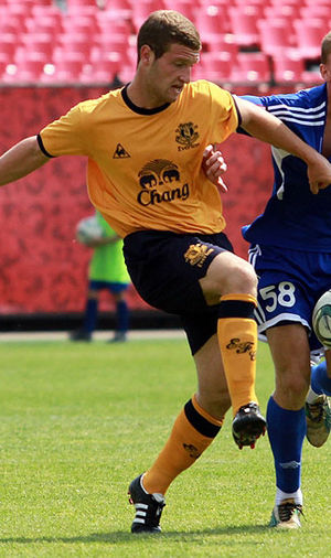 Shkodran Mustafi - Mustafi playing for Everton in 2011