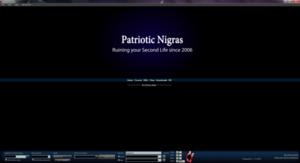 Patriotic Nigras - Titlescreen of the ShoopedLife client