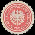 Siegelmarke Der Kgl. Landrath des Kreises Bitburg W0327851.jpg