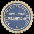 Siegelmarke Gemeinde Ackenhausen H. Braunschweig W0352117.jpg
