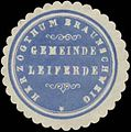 Siegelmarke Gemeinde Leiferde H. Braunschweig W0352125.jpg