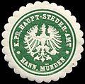 Siegelmarke Königlich Preussisches Haupt-Steuer-Amt - Hannover Münden W0260308.jpg