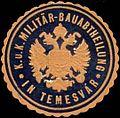 Siegelmarke K.u.K. Militär-Bauabtheilung in Temesvar W0317584.jpg
