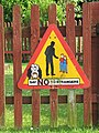 Sign on fence surrounding children's play area - geograph.org.uk - 1373065.jpg
