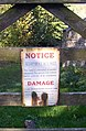 Sign on the gate to the allotments, Hesket Newmarket, Caldbeck CP - geograph.org.uk - 283061.jpg