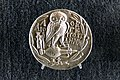 Silver corithian tetradrachm with owl and athena (5431942080).jpg