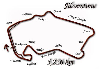 British Grand Prix - Silverstone, as used from 1991–1993