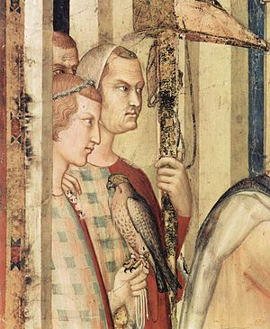 San Martino Chapel - Detail of the Investiture of St. Martin as a Knight.