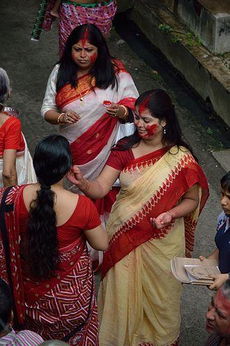 Sindoor - Women with sindur