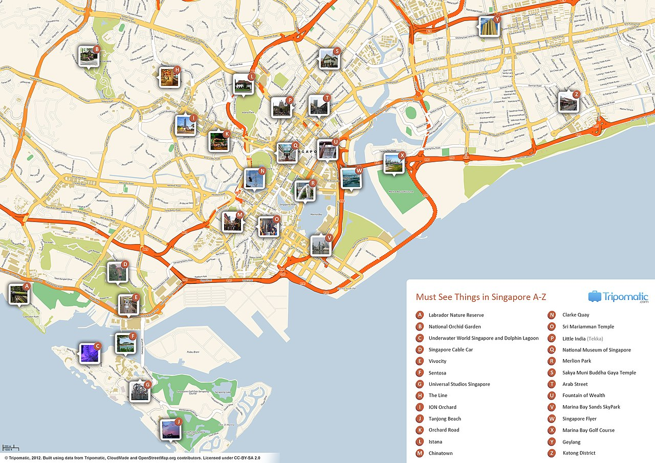 FileSingapore printable tourist attractions mapjpg Wikimedia – Tourist Map of Barcelona