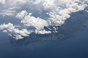 Mount Sirung - Aerial view