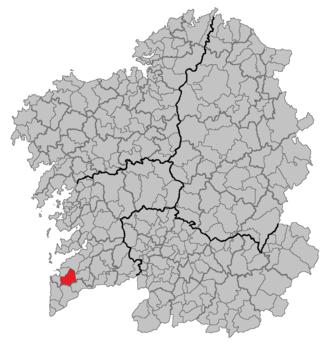 Gondomar, Pontevedra - Image: Situacion Gondomar