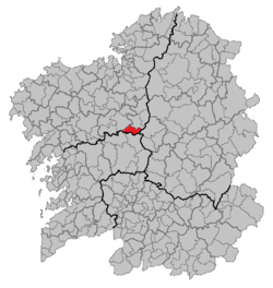 Location of Santiso within Galicia