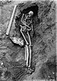 Skeleton in situ, found at Jebel Moya Wellcome M0005017.jpg