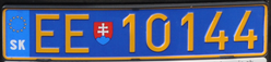 Slovakia diplomatic license plate EE 10144.png