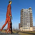 Small, medium and tall^^ men near the Doesburg harbour. nice art for enjoying visitors and inhabitants - panoramio.jpg