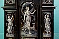 Small jewellery cabinet, detail, by Johann Zignah ebeniste, Paul Soyer enamel, Paris, 1877-1878, ebony-veneer on oak, enamel plates, silver, ivory - Germanisches Nationalmuseum - Nuremberg, Germany - DSC03098.jpg