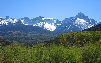 Southern Rocky Mountains - Sneffels Range in Colorado.