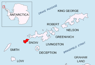 Cape Conway southern tip of Snow Island (South Shetland Islands)