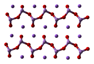 Sodium arsenite - Catena-arsenite chains